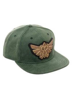 LEGEND OF ZELDA, THE -  BLACK TRIFORCE CAP - GREEN