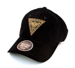 LEGEND OF ZELDA, THE -  GOLDEN TRIFORCE VELVET CAP - BLACK