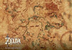 LEGEND OF ZELDA, THE -  MAP PREMIUM PUZZLE (750 PIECES) -  BREATH OF THE WILD