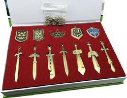LEGEND OF ZELDA, THE -  NECKLACE WEAPONS AND SHIELDS SET (12PCS)
