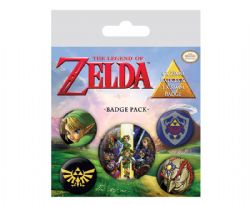 LEGEND OF ZELDA, THE -  SET OF 5 PINS