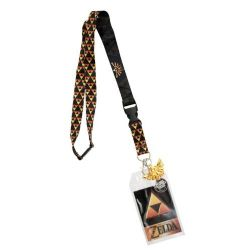 LEGEND OF ZELDA, THE -  TRIFORCE LOGO LANYARD WITH CHARM - GOLD