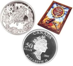 LEGENDS AND FOLKLORE -  THE SHOEMAKER IN HEAVEN -  2002 CANADIAN COINS 06
