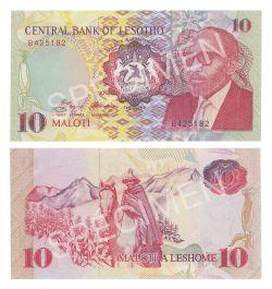 LESOTHO -  10 MALOTI 1990 (UNC)