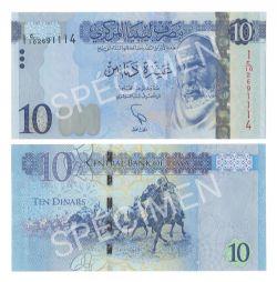 LIBYA -  10 DINARS 2015 (UNC)