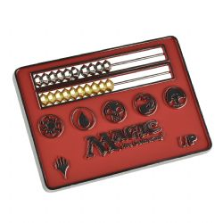 LIFE COUNTER -  ABACUS - MTG - RED (2.5 X 3 INCH)