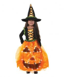 LIGHT UP -  PUMPKIN PRINCESS COSTUME (CHILD)