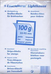 LIGHTHOUSE -  ASSORTED (100G) CLEAR MOUNTS FOR STAMPS