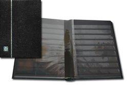 LIGHTHOUSE -  BLACK LEATHER 32-SHEET STOCKBOOK (64 BLACK PAGES)