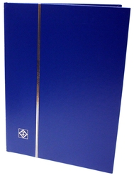 LIGHTHOUSE -  BLUE 8-SHEET STOCKBOOK (16 BLACK PAGES)