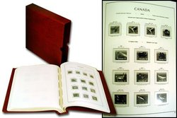 LIGHTHOUSE CANADA -  ALBUM FOR CANADIAN STAMPS (1851-1985) (WITH MOUNTS) 01