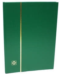 LIGHTHOUSE -  GREEN 16-SHEET STOCKBOOK (32 BLACK PAGES)