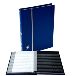 LIGHTHOUSE -  MINI BLUE 16-SHEET STOCKBOOK (32 BLACK PAGES)