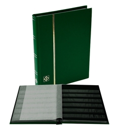 LIGHTHOUSE -  MINI GREEN 16-SHEET STOCKBOOK (32 BLACK PAGES)