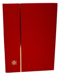 LIGHTHOUSE -  RED 16-SHEET STOCKBOOK (32 BLACK PAGES)