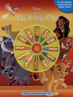 LION KING -  CRAYONS MIGNONS - CAHIER À COLORIER AVEC CRAYONS -  ROI LION