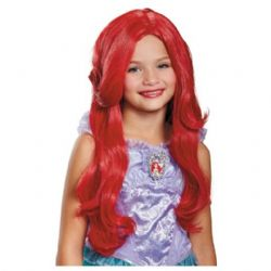 LITTLE MERMAID, THE -  ARIEL DELUXE WIG - RED(CHILD) -  DISNEY'S PRINCESSES