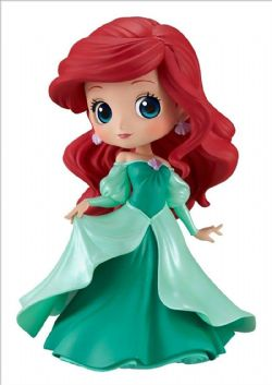 LITTLE MERMAID, THE -  ARIEL GREEN DRESS FIGURE (5INCHES) -  DISNEY Q-POSKET