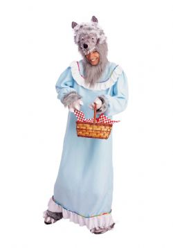 LITTLE RED RIDING HOOD -  GRANNY WOLF COSTUME (ADULT - ONE SIZE)