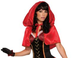 LITTLE RED RIDING HOOD -  HOODED CAPE - RED