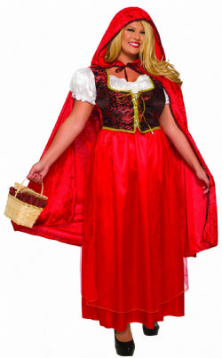 LITTLE RED RIDING HOOD -  RED RIDING HOOD COSTUME (ADULT)