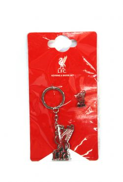 LIVERPOOL FC -  LOGO KEYCHAIN AND PIN SET