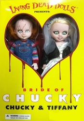 LIVING DEAD DOLLS -  CHUCKY AND TIFFANY DOLLS (12 INCH) -  BRIDE OF CHUCKY, THE