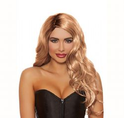 LONG WAVY WIG - HONEY BROWN (ADULT)