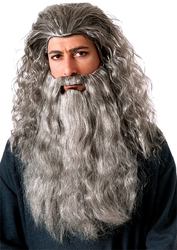 LORD OF THE RINGS, THE -  GANDALF WIG AND BEARD - GREY -  THE HOBBIT - AN UNEXPECTED JOURNEY