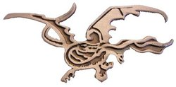 LORD OF THE RINGS, THE -  SMAUG THE RED DRAGON PIN -  THE HOBBIT - AN UNEXPECTED JOURNEY