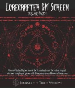 LORECRAFTER GM SCREEN -  ORB AND PATH