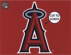 LOS ANGELES ANGELS -  DECAL 5X6 REMOVABLE AND REUSABLE