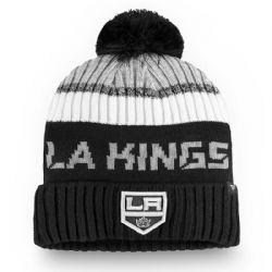 LOS ANGELES KINGS -  BEANIE WITH POMPOM - BLACK
