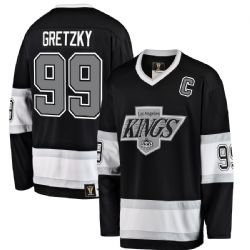 LOS ANGELES KINGS -  BLACK WAYNE GRETZKY #99 REPLICA HERITAGE JERSEY