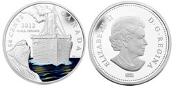 LOST SHIPS IN CANADIAN WATERS -  RMS TITANIC -  2012 CANADIAN COINS
