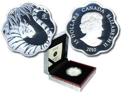 LUNAR LOTUS -  YEAR OF THE TIGER -  2010 CANADIAN COINS 01