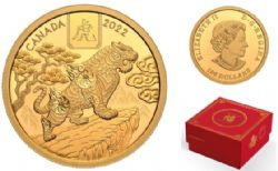 LUNAR YEAR (IN GOLD) -  YEAR OF THE TIGER -  2022 CANADIAN COINS 01
