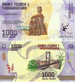MADAGASCAR -  1000 ARIARY 2017 (UNC)