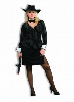 MAFIA -  GORGEOUS GANGSTER COSTUME (ADULT - XX-LARGE 18-22)
