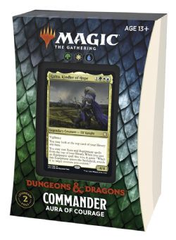MAGIC THE GATHERING -  AURA OF COURAGE - COMMANDER DECK (ENGLISH) -  ADVENTURES IN THE FORGOTTEN REALMS