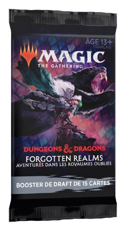 MAGIC THE GATHERING -  DRAFT BOOSTER PACK (P15/B36/C6) (FRENCH) -  FORGOTTEN REALMS : AVENTURES DANS LES ROYAUMES OUBLIÉS