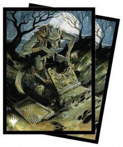MAGIC THE GATHERING -  STANDARD SIZE SLEEVES - GRAVEYARD GLUTTON (100) -  INNISTRAD MIDNIGHT HUNT