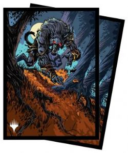 MAGIC THE GATHERING -  STANDARD SIZE SLEEVES - MOONRAGE BRUTE (100) -  INNISTRAD MIDNIGHT HUNT