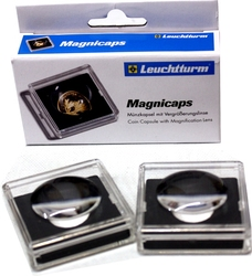 MAGNICAPS -  SQUARE CAPSULES WITH MAGNIFIER FOR 20 MM COINS (PACK OF 2)