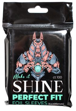 MAKE IT SHINE -  STANDARD SIZE FOIL SLEEVES (CT100) - PERFECT FIT