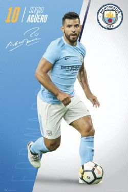 MANCHESTER CITY FC -  SERGIO AGUERO POSTER (22