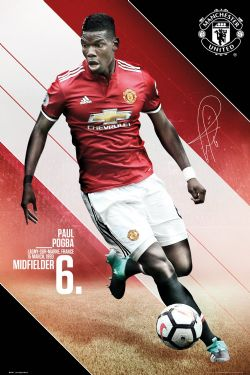 MANCHESTER UNITED -  2017-18 PAUL POGBA POSTER