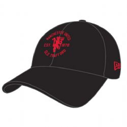 MANCHESTER UNITED -  OLD TRAFFORD ADJUSTABLE CAP - BLACK
