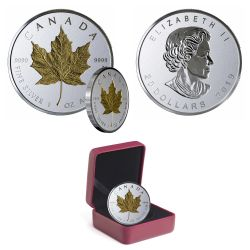 MAPLE LEAVES -  40TH ANNIVERSARY OF THE GOLD MAPLE LEAF -  2019 CANADIAN COINS