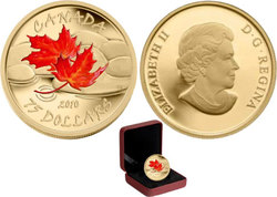 MAPLE LEAVES -  AUTUMN MAPLE LEAF - RIVER STONES -  2010 CANADIAN COINS